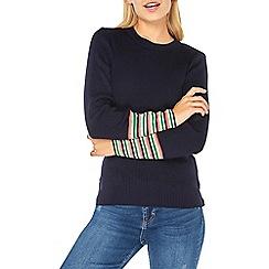 Dorothy Perkins - Navy rainbow striped cuff jumper