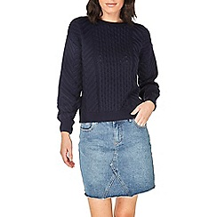 Dorothy Perkins - Navy chunky cable-knitted jumper