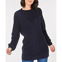 Dorothy Perkins - Navy cable tunic top