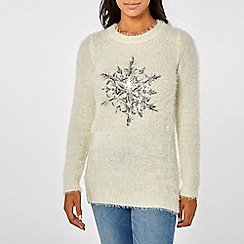 Dorothy Perkins - Ivory fluffy snowflake jumper