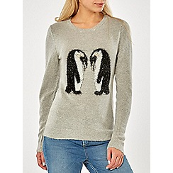 Dorothy Perkins - Grey tinsel penguin jumper