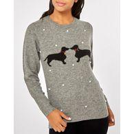 Kissing Jumper Debenhams Dorothy Perkins Dog Grey Curve tqCqSP