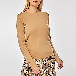 Dorothy Perkins - Camel soft wrap back jumper