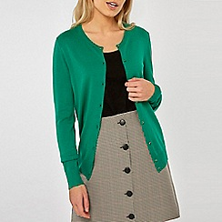 Dorothy Perkins - Green Button Cardigan