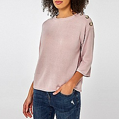 Dorothy Perkins - Lilac Button Detail Jumper