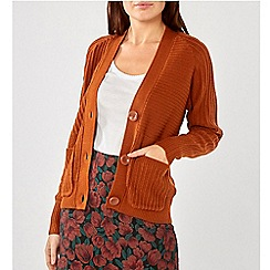 Dorothy Perkins - Tan Large Button Cardigan