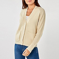 Dorothy Perkins - Cream Large Button Cardigan