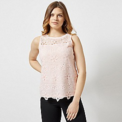 Dorothy Perkins - Blush Floral Lace Shell Top