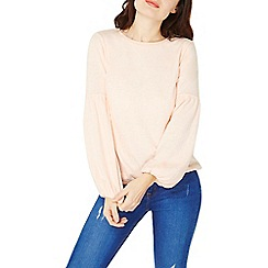 Dorothy Perkins - Peach balloon sleeve top
