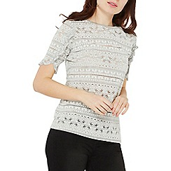 Dorothy Perkins - Grey puff print t-shirt