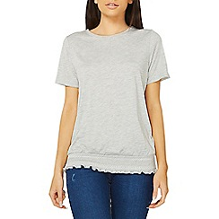 Dorothy Perkins - Grey shirred hem top