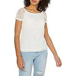Dorothy Perkins - Ivory lace top