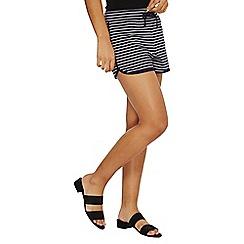 Dorothy Perkins - Navy stripe jersey shorts