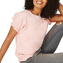 Dorothy Perkins - Pink ruched cuff and hem t-shirt