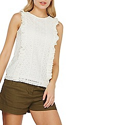Dorothy Perkins - Ivory broiderie lace shell top