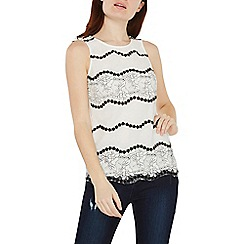 Dorothy Perkins - Ivory two tone lace shell top