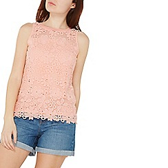 Dorothy Perkins - Coral daisy lace shell top