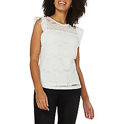 Dorothy Perkins - White frill lace shell top