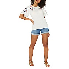 Dorothy Perkins - White embroidered top