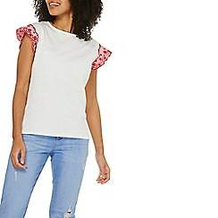 Dorothy Perkins - White broderie frill shell top