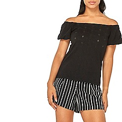 Dorothy Perkins - Black broiderie bardot top