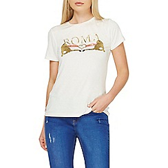 Dorothy Perkins - Ivory slogan t-shirt