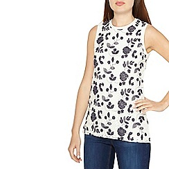 Dorothy Perkins - Ivory embroidered shell top