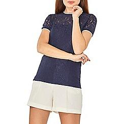 Dorothy Perkins - Navy blue lace t-shirt