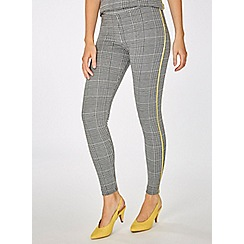 Dorothy Perkins - Black and lime checked leggings