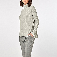 Dorothy Perkins - Grey long sleeve brushed roll neck top