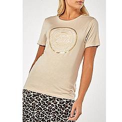 Dorothy Perkins - Cream ciao bella motif t-shirt