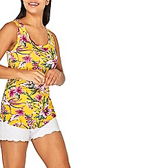 Dorothy Perkins - Yellow tropical print vest