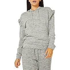 Dorothy Perkins - Grey frill detail hoodie