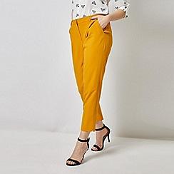 Dorothy Perkins - Yellow Split Hem Ankle Grazer Trousers