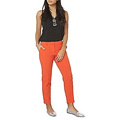 Dorothy Perkins - Red double loop ankle grazer trousers