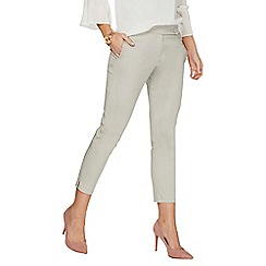 Dorothy Perkins - Grey circle popper trousers