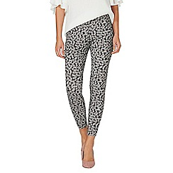 Dorothy Perkins - Monochrome floral skinny trousers