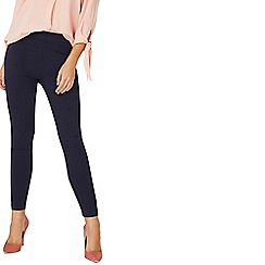 Dorothy Perkins - Navy pull on skinny fit trousers