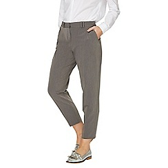 Dorothy Perkins - Grey slim tailored ankle grazer trousers