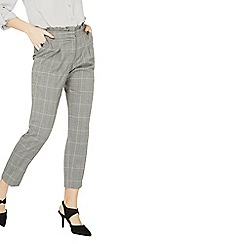 Dorothy Perkins - Multi colour checked frill peg trousers