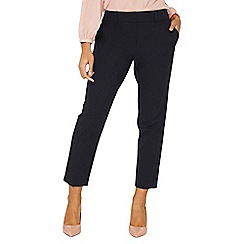 Dorothy Perkins - Navy split hem ankle grazer trousers
