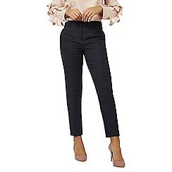 Dorothy Perkins - Blue regular textured slim leg trousers