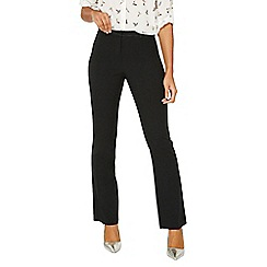 Dorothy Perkins - Black regular slim leg bootcut trousers