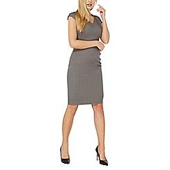 Dorothy Perkins - Grey v-neck pencil dress