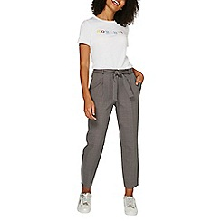 Dorothy Perkins - Grey tie tapered leg trousers