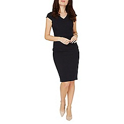 Dorothy Perkins - Navy v-neck pencil dress