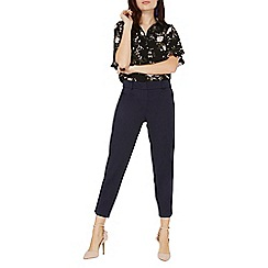 Dorothy Perkins - Navy textured slim trousers
