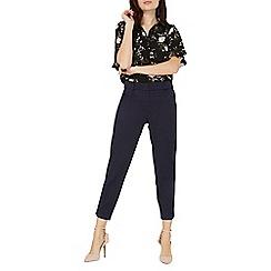 Dorothy Perkins - Navy textured slim trousers