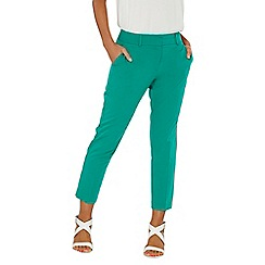 Dorothy Perkins - Green split hem ankle grazer trousers