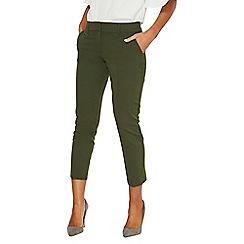 Dorothy Perkins - Khaki split hem ankle grazer trousers